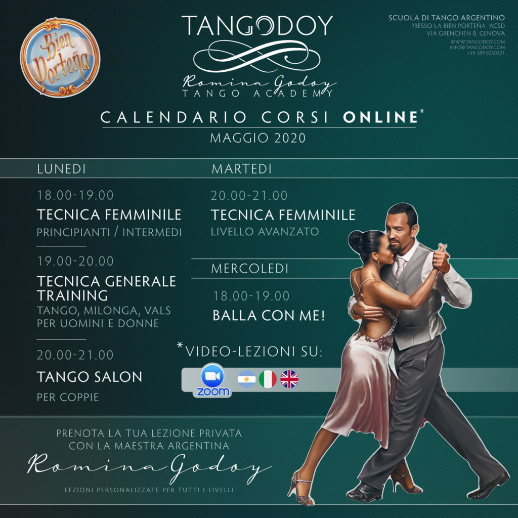 Corsi di Tango Argentino Online 2020