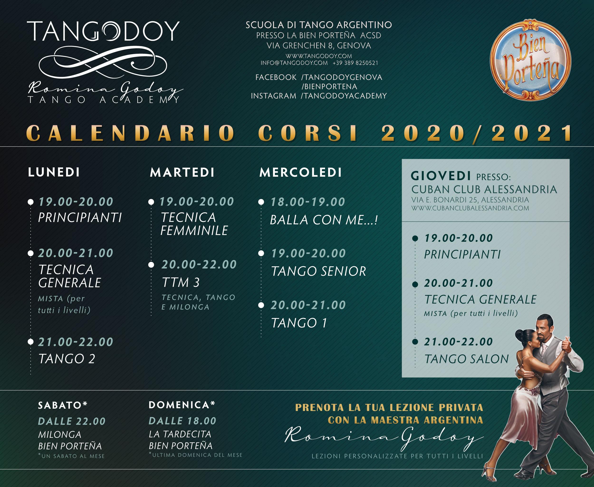 Corsi di Tango Argentino Online 2020/2021