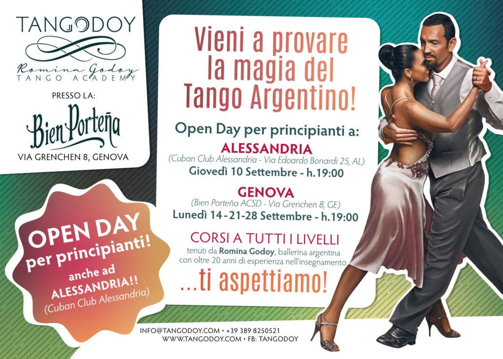 Open Day Nuovi Corsi Tango Argentino 2021